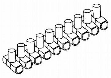 Samlemuffe 10mm² PÅ række A 10  styk B100
