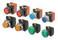 Trykknap A22NN 22 dia., Bezel plast, projiceret,Alternativ, cap farve uigennemsigtig sort, 1NO1NC, ikke-tændte A22NN-BPA-NBA-G102-NN 661519 miniature
