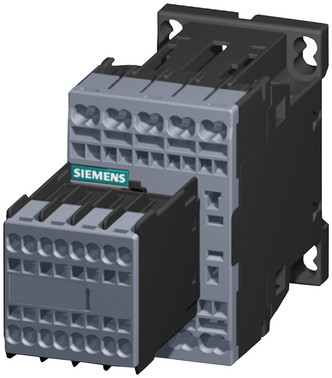 Hjælpekontaktor, 6NO+2NC, AC 230V, 50/60 Hz, str. S00, fjederklemmer, permanent hjælpekontakt, 3RH2262-2AP00