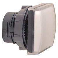 Harmony signallampehoved i plast for LED med firkantet linse i hvid farve ZB5CV013