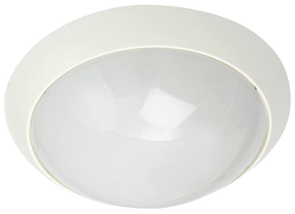 Enøk Alu Mat-Hvid E27 m/Sensor & Sikring
