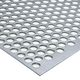 Perforerede plade rundt 2000x1000x2,0 mm 10 mm hul 810-000; luftprocent 56% JFPR2810