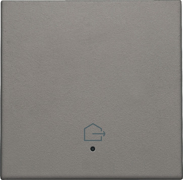 """Tangent med LED, med """"forlad hjem"""" symbol, greige 104-32902"""