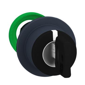 Harmony flush nøglegreb i plast med 3 positioner og fjeder-retur fra H-til-M og nøgle (Ronis 455) ud i V ZB5FG08