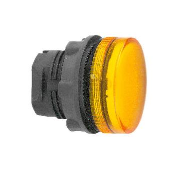 Harmony signallampehoved i plast for LED med riflet linse til udendørs brug i orange farve ZB5AV053S
