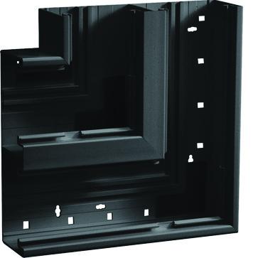 Fladvinkel plast for BR65210D RAL 9011 BR652105D9011