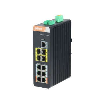 10-Port Gigabit Industrial Switch med 6-Port Gigabit PoE (Managed), PFS4410-6GT-DP PFS4410-6GT-DP