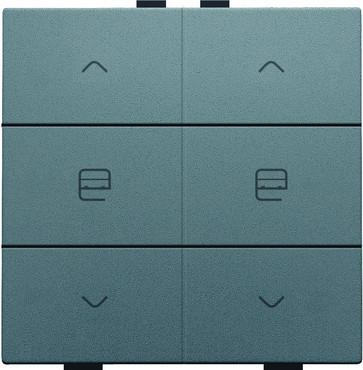 Motortryk dobbelt, steel grey coated, NHC 220-51036