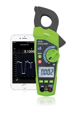 Elma 9200BT Sand RMS AC/DC tangamperemeter med Bluetooth Gratis APP og indbygget LED lommelygte 5706445840489