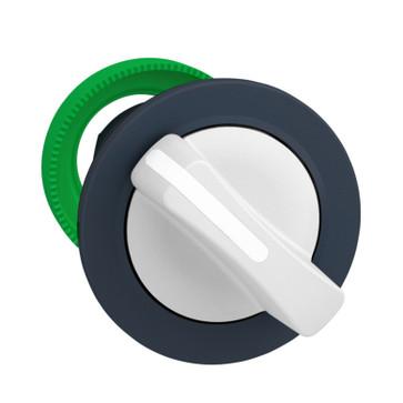 Harmony flush drejegreb i plast med et kort hvidt greb med 2 positioner og fjeder-retur fra H-til-V ZB5FD401
