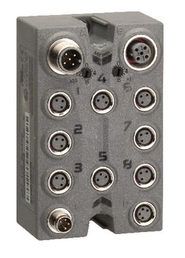 Modicon TM7, CANopen Interface I/O Blok, 8 I/O, M8, IP67  / TM7NCOM08B