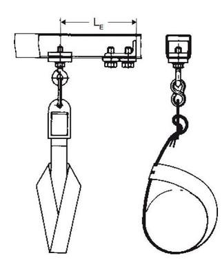 Endeklemme stål med strop, est 1-2 - sch/80 0312879