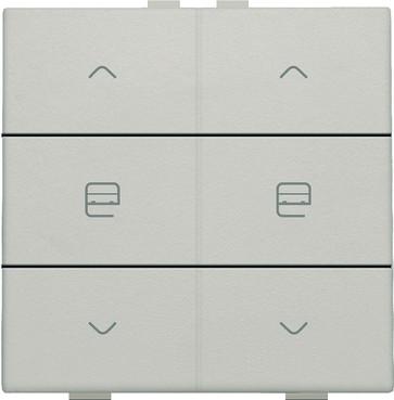 Motortryk dobbelt, light grey, NHC 102-51036