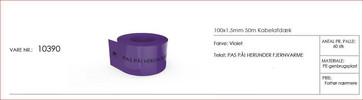 Kabelafdæk violet 100x1,5 mm fjernvarme 10390