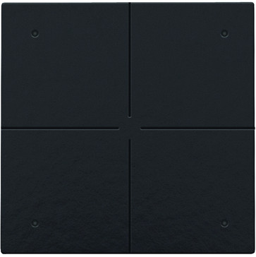 4-tryk med LED, Bakelite® piano black coated, NHC 200-52004