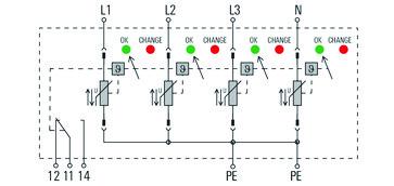 Transientbeskyttelse VPU AC I 4 R 300/12.5 2591430000