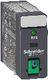 RXG stikbensrelæ med testknap og LED, 2 C/O 5A og 24VDC 7522603124