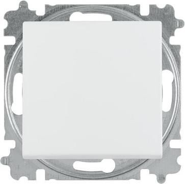 ABB-basic55 Trykkontakt blank hvid 10A 1 modul leveres inklusive tangent 2CHB219154A5094