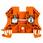Gennemgangsklemme skrue/skrue orange WDU 4 1036760000 miniature