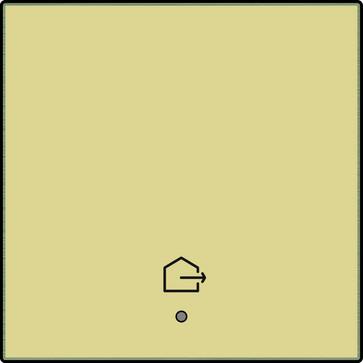 """Tangent med LED, med """"forlad hjem"""" symbol, gold coated 221-32902"""