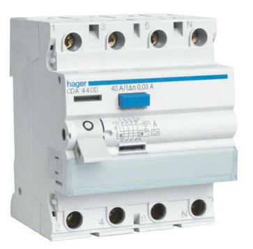 HPFI afbryder 4P 40A/30mA CDA440K