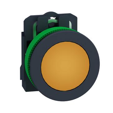 Harmony flush signallampe komplet med LED i orange farve og 24VAC/DC forsyning XB5FVB5