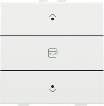 Motortryk enkelt med LED, white coated, NHC 154-52033