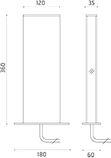 Talia Low Power LED 7W 4000K/2X73lm