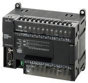 PLC, 24VDC forsyning, 12x24VDC indgange, 8xPNP udgange 0,3A, 2xanaloge indgange, 1xanaloge udgang, opløsning 1/6000, 8K trin program + 8K-ord datalager, RS-232C port CP1E-NA20DT1-D 328740