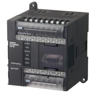 PLC, 24VDC forsyning, 12x24VDC input, 8xrelæudgange 2A, 8K trin program + 8K-ord datalager, RS-232C port CP1E-N20DR-D 298943