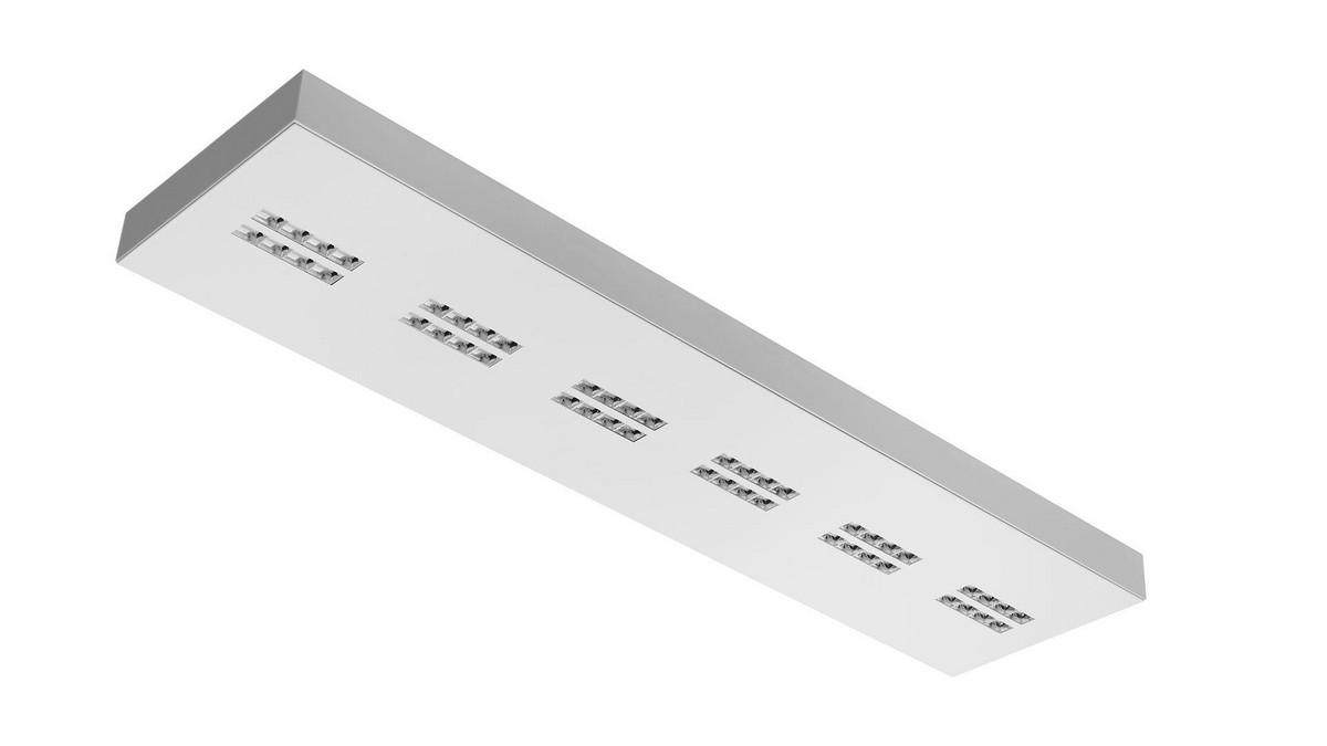 Declan OMS 3800lm/33W/840 LED Dali 120x30 nedhængt/påbyg mikroprismatisk hvid