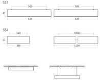 Freyn II OMS 3000lm/22W/840 LED FIX 600x600 nedhængt/påbyg mikroprismatisk hvid