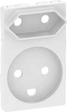LK FUGA antibakteriel afdækning for kombi klasse 1 og 2 stikkontakt 1½ modul, hvid 580D6822