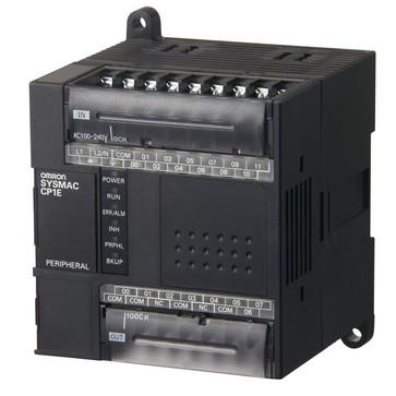 PLC, 100-240 VAC forsyning, 12x24VDC input, 8xrelæudgange 2A, 2K trin program + 2K-ord datalager CP1E-E20DR-A 279802