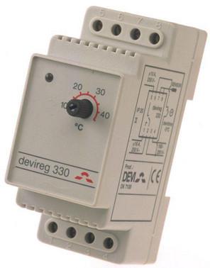 Thermostat devireg 330  -10°C/+10°C - 1C 140F1070