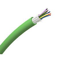 LEXCOM Fiber Kabel indendørs/udendørs OM2 12x50/125 OM2 ind/ud TB, grøn VDIC52212TM