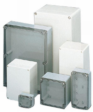 Kasse CT-842T ABS 240X160X90 transparent låg 3841000000