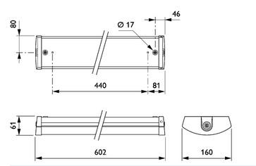 Philips FastSet Stænktæt IP44 SM150C 2400lm/830 20W 3F-gennemfortrådning 602mm 912401483056