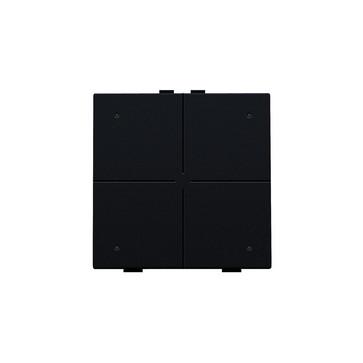 4-tryk med LED, black coated, NHC 161-52004