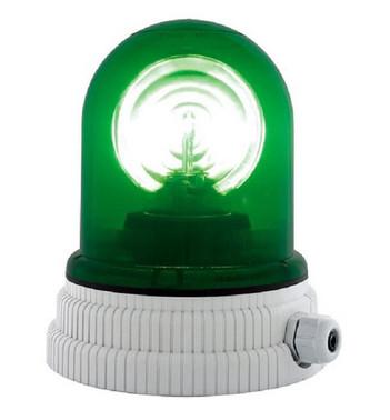 Roterende lampe 24V - Grøn, 200R, 24 26364