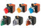 SelectorA22NW 22 dia., 2 position, Oplyste, bezel metal,mAnuel, farve grøn, LED grøn, 1NO1NC, 24VDC A22NW-2RM-TGA-G102-GC 662362 miniature