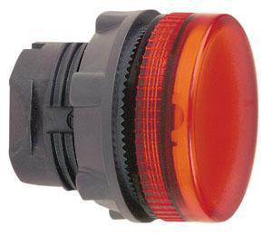 Harmony signallampehoved i plast for LED med riflet linse til udendørs brug i rød farve ZB5AV043S