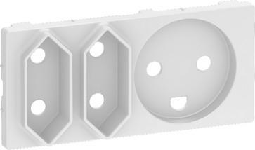 LK FUGA antibakteriel afdækning for kombineret klasse 1 og 2 stikkontakt 2 modul, hvid 580D6213