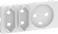 LK FUGA antibakteriel afdækning for kombineret klasse 1 og 2 stikkontakt 2 modul, hvid 580D6213 miniature