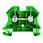 Jordsløjfeklemme gul/grøn skrue/skrue 1833340000 miniature