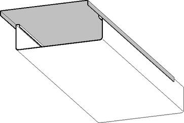 Låg hvid 100mm (L=3M) 420V