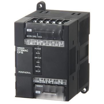 PLC, 24VDC forsyning, 6x24VDC indgange, 4xPNP udgange 0,3A, 2K trin program + 2K-ord datalager CP1E-E10DT1-D 333285