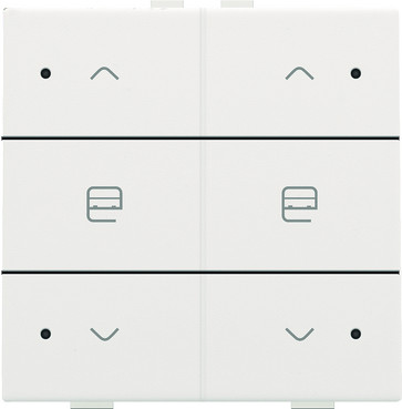 Motortryk dobbelt med LED, white coated, NHC 154-52036