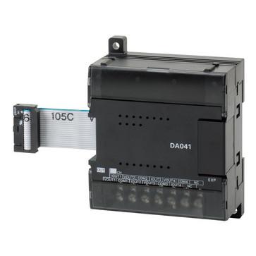 I/O-udvidelse enhed, 4xanaloge udgange 0 til 5 V, 1 til 5 V, 0 til 10 V, -10 til 10 V, 0 til 20mA, 4 til 20mA, opløsning 1: 6000 CP1W-DA041 671148