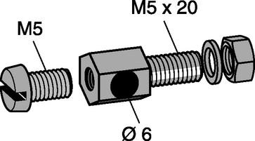 Skruesæt rustfri M5X20mm 838R